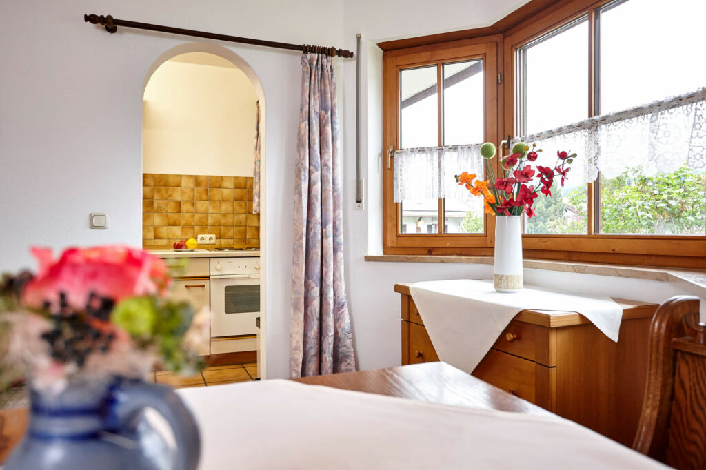 Hotel Gästehaus Bichlerhof Mittenwald Ferienwohnung Essecke Kueche